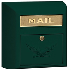 green mail box