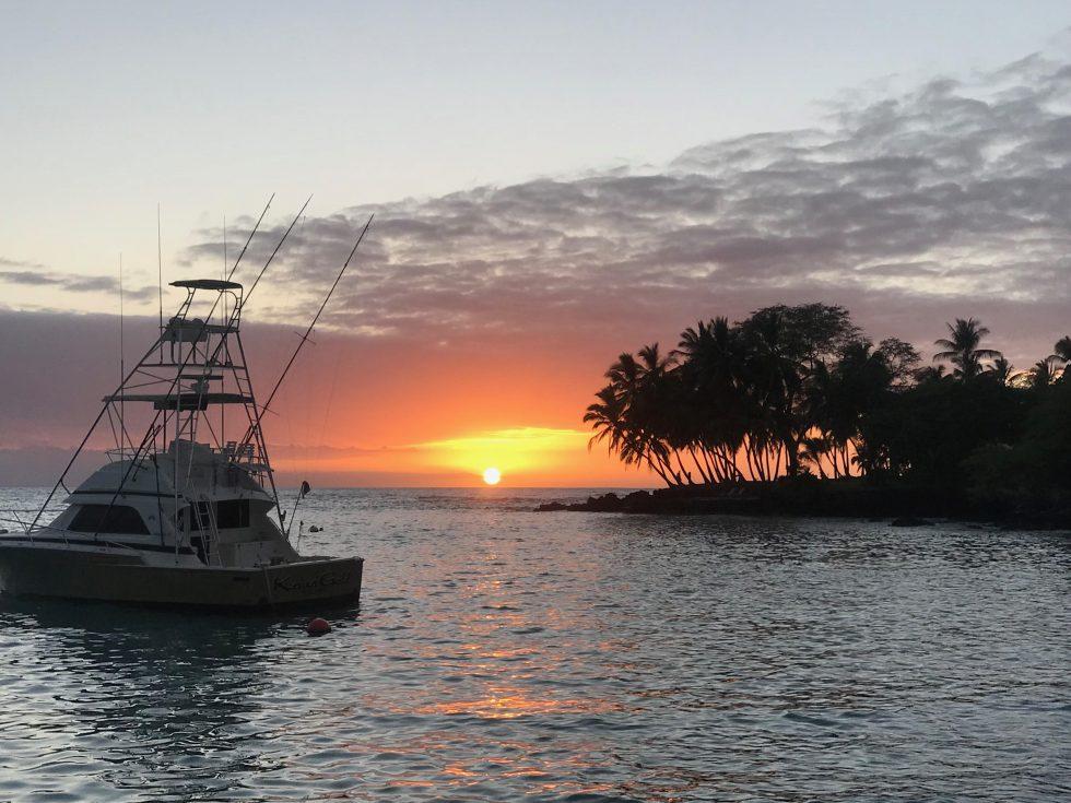 hawaii beach on sunset