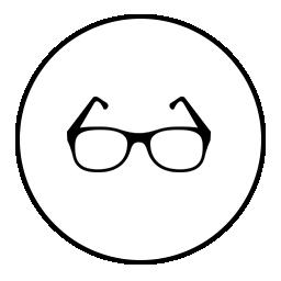eye glass in a circle