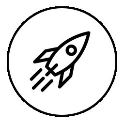 rocket drawing in a circle