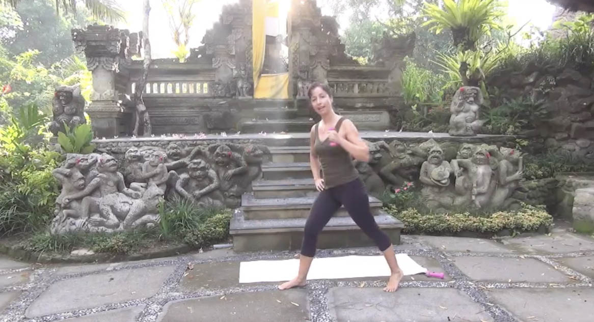 Michelle exercising in Bali